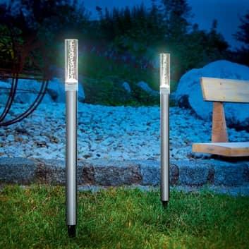 Design lichtstaven op zonne-energie Twin 2-set