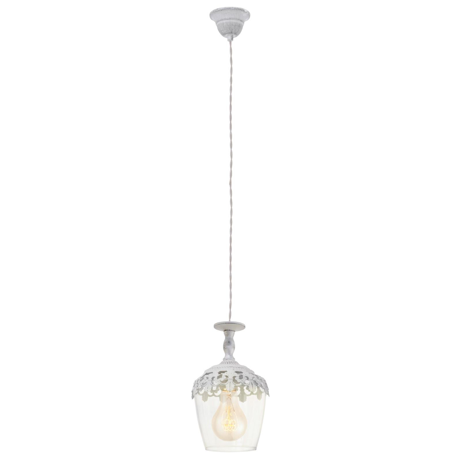 Lámpara colgante Florinia blanca patinada