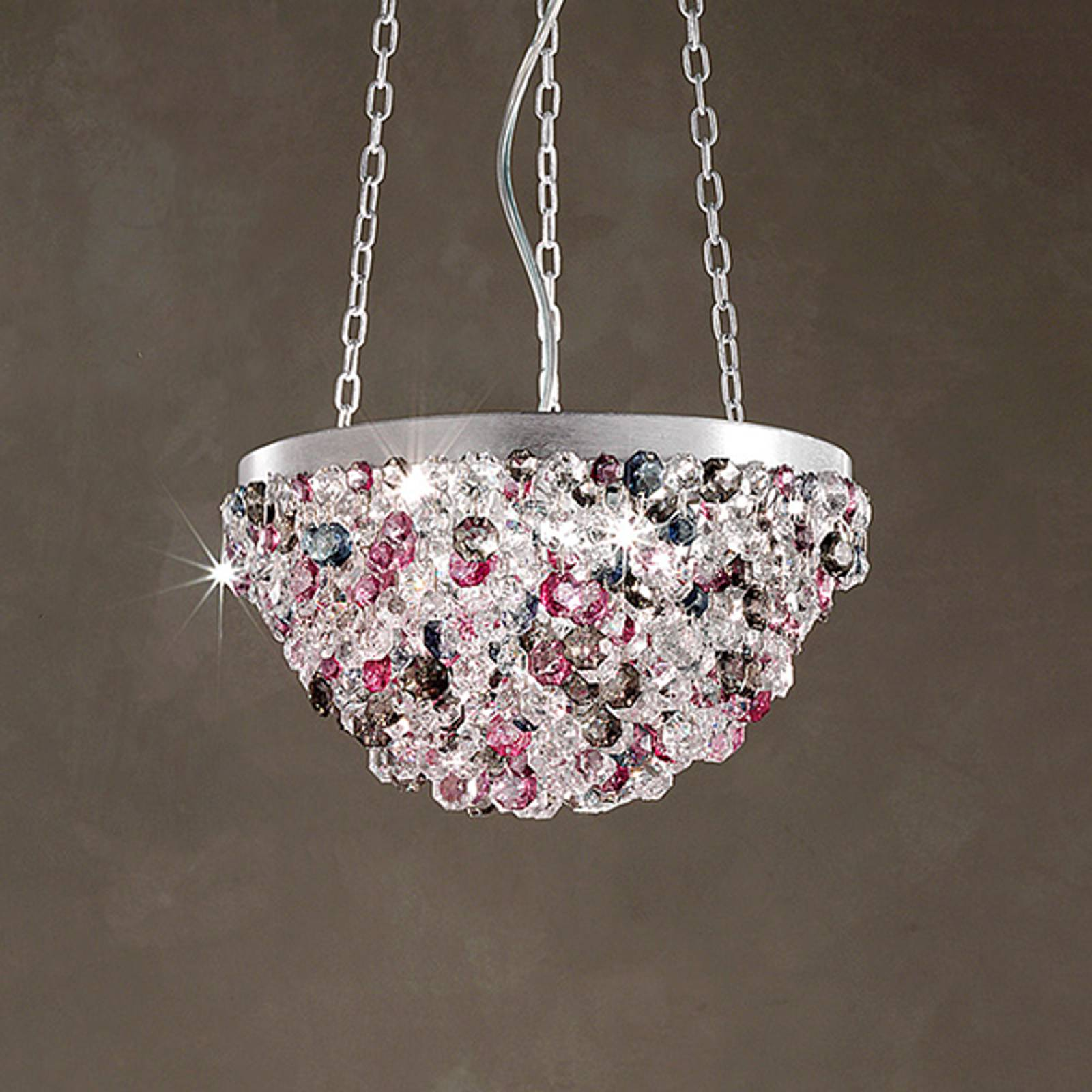 Halfbolvormige hanglamp Rosemery