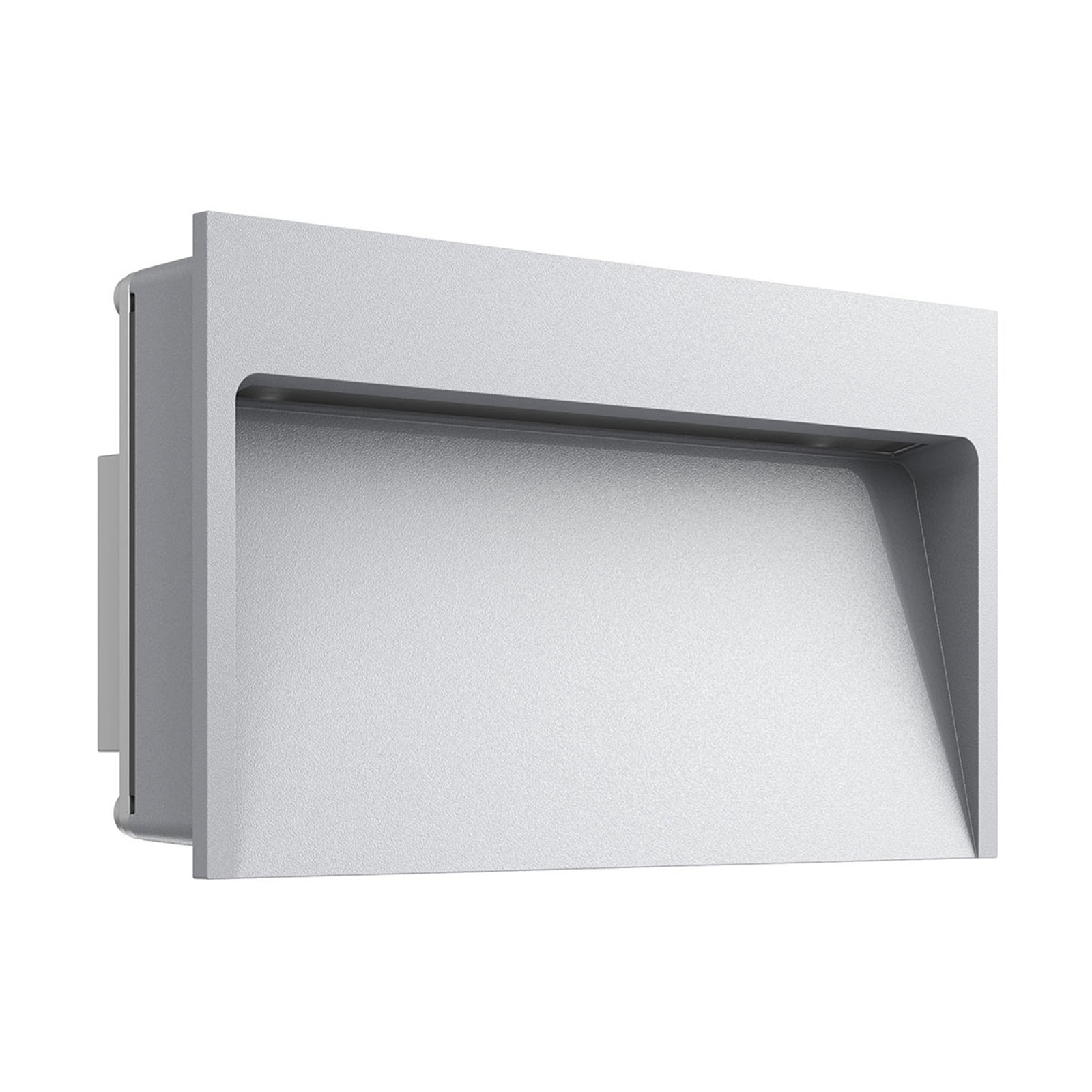 Bred innfelt LED vegglampe My Way, grå