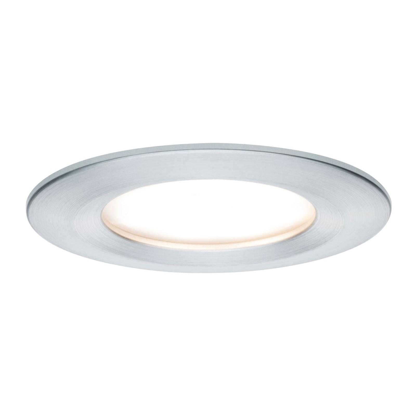 Paulmann 3er-Set LED-Spot Slim Coin, dimmbar, Alu