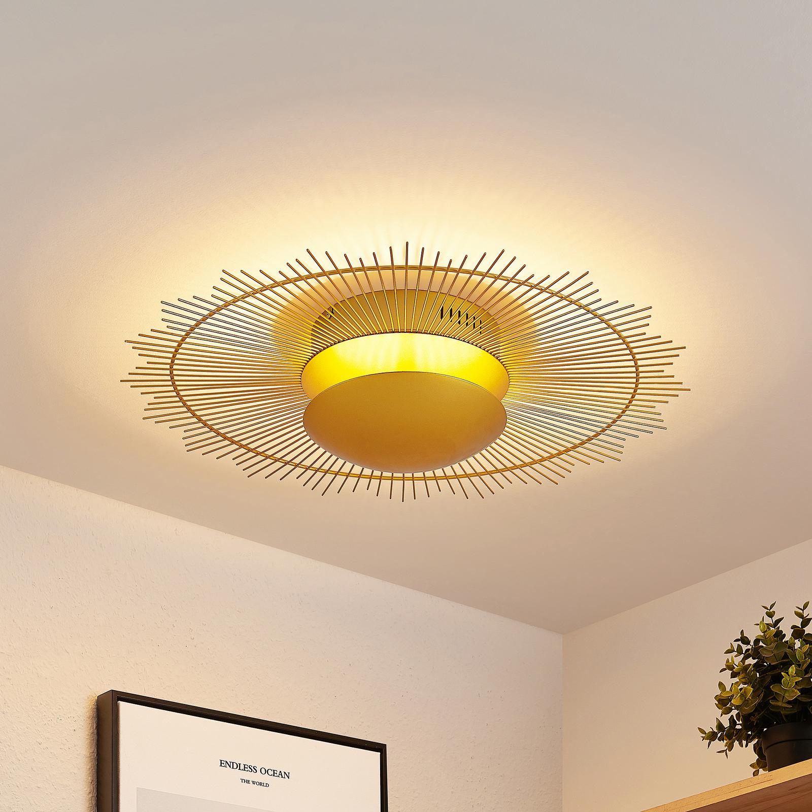 Lindby Solis LED-taklampe, gull