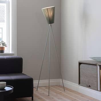 Northern Oslo Wood gulvlampe, lysegrå/olivengrøn