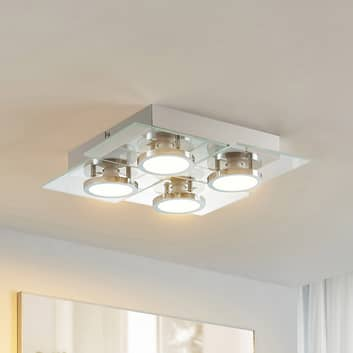 Lindby Imiria LED-Deckenleuchte, Quadrat, 4-flg.