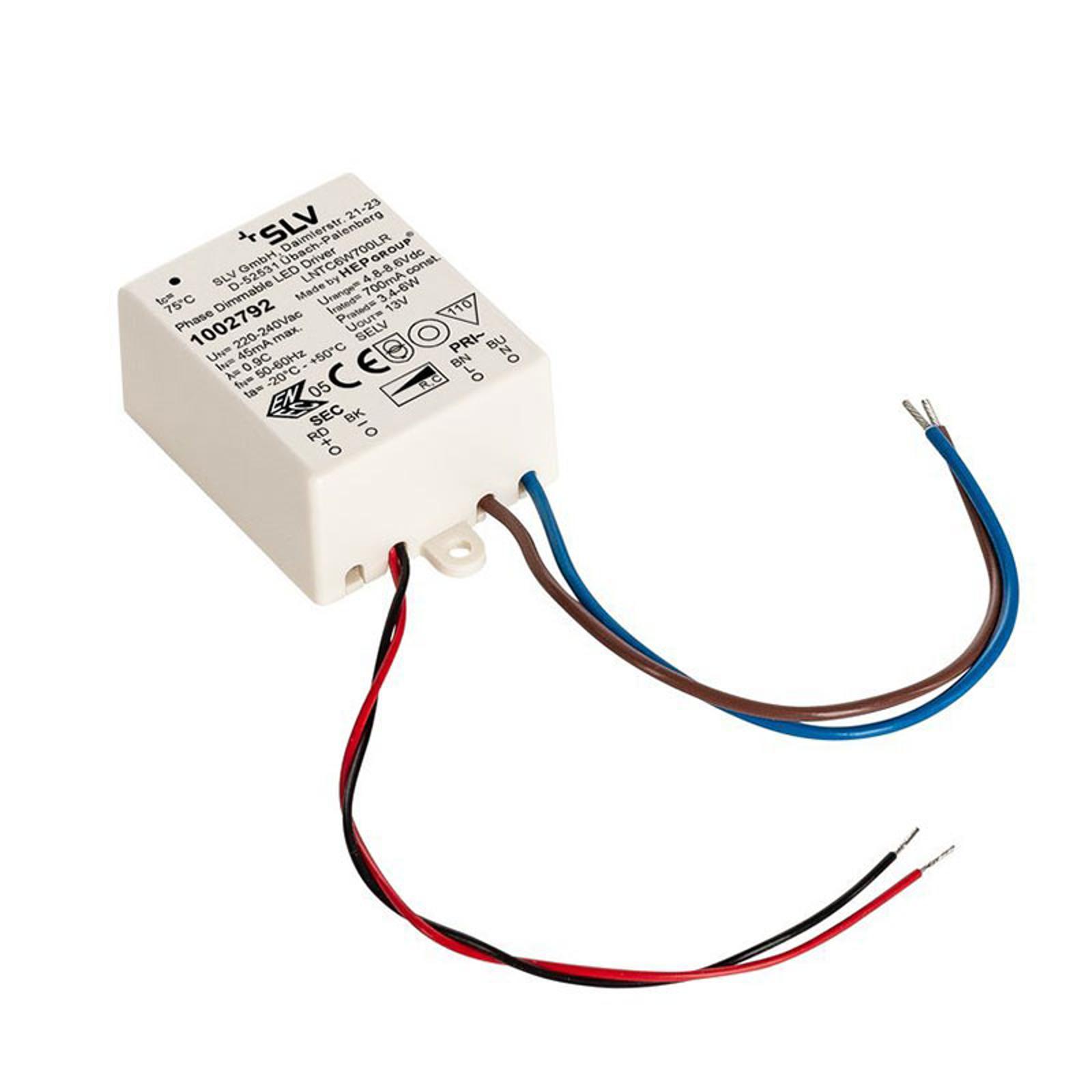 SLV driver LED 6W, 700mA, dimmable TRIAC