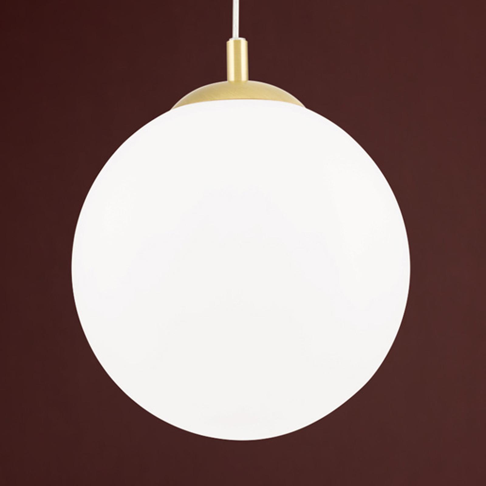 Suspension Madis en laiton mat, à 1 lampe
