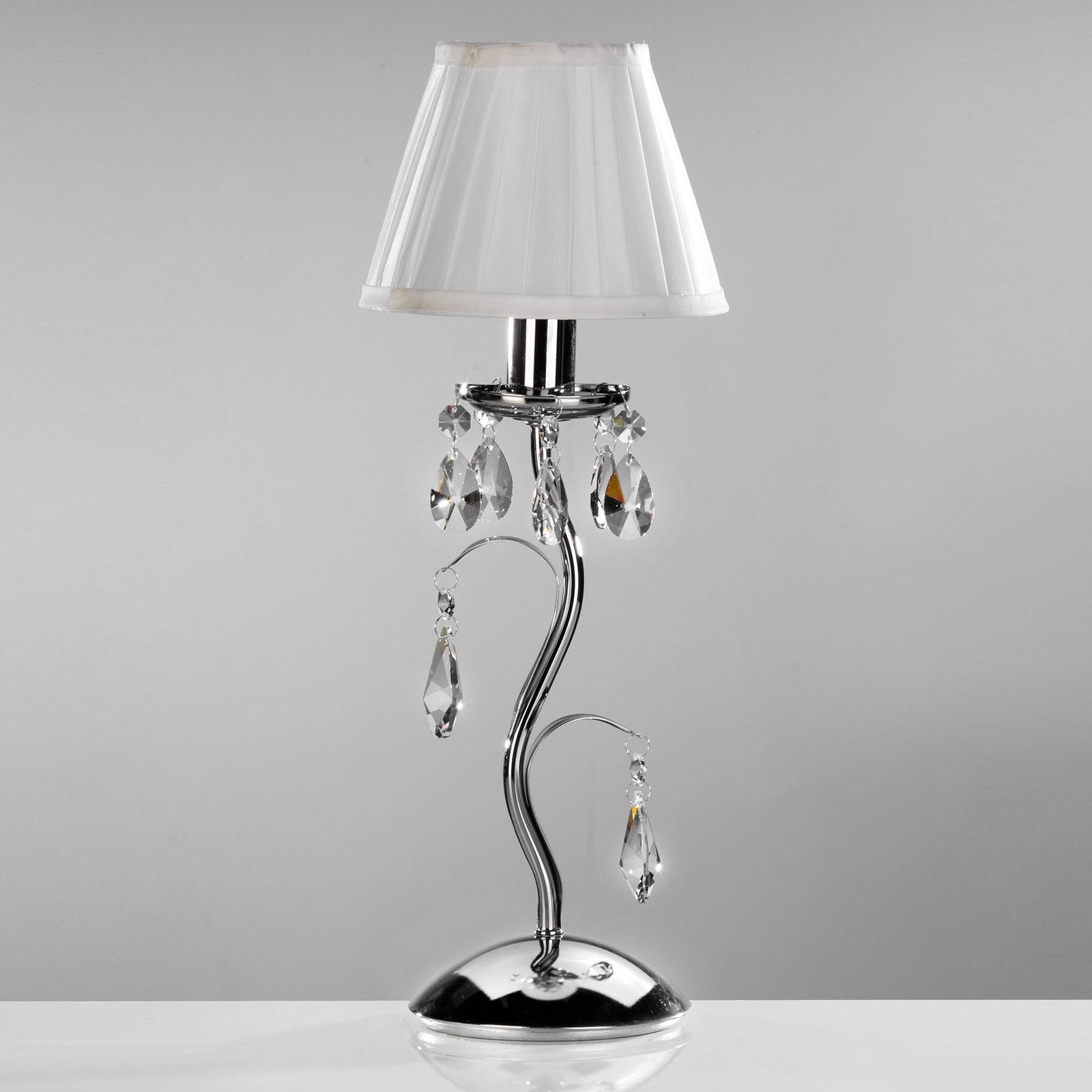 Lampa stołowa Jacqueline, 1-punktowa, biała