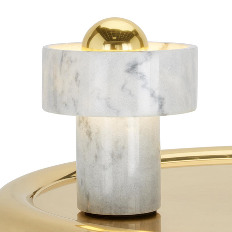 Stone Table - bordlampe i hvit marmor