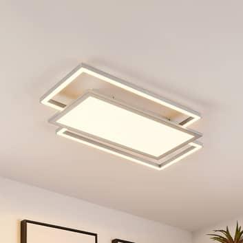 Lucande Ciaran LED-taklampe, rektangulær