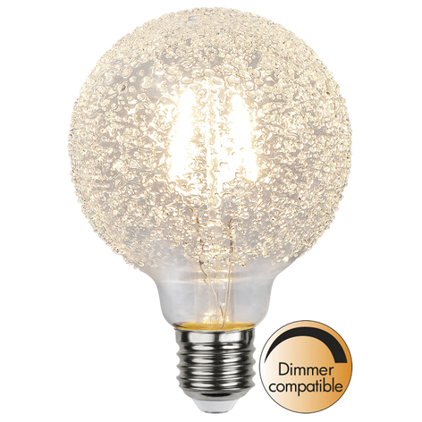 Globe LED E27 1W G95 Ice Drop 2600K dimmable