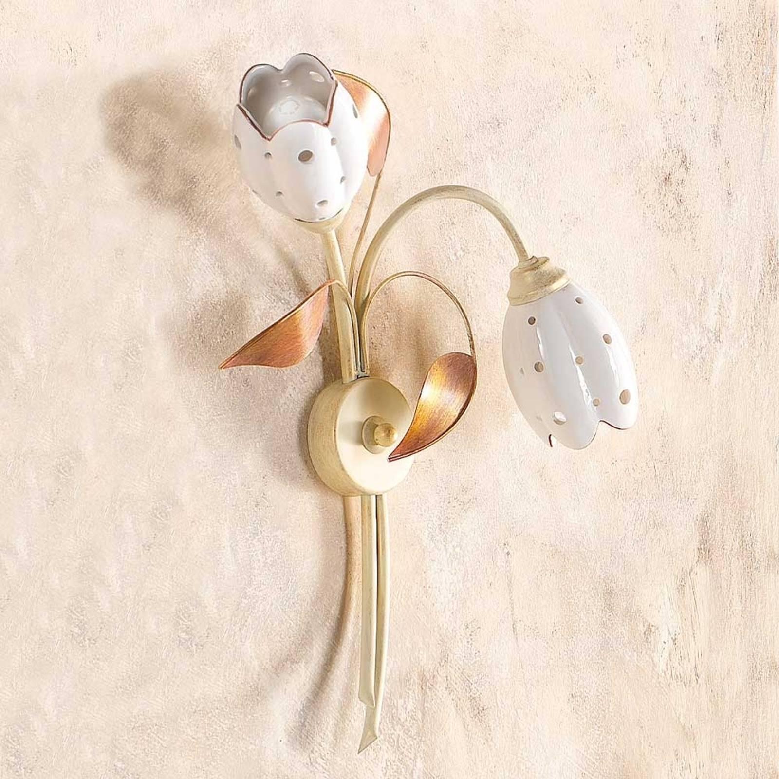 2-lichts bloemvormige wandlamp TULIPANO