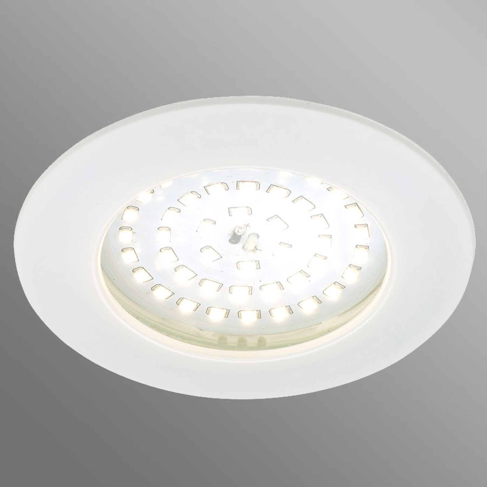 Spot LED incasso Carl da esterni, bianco