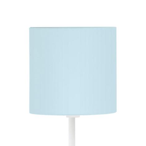 Lampadaire Pasteri-P blanc, abat-jour bleu clair