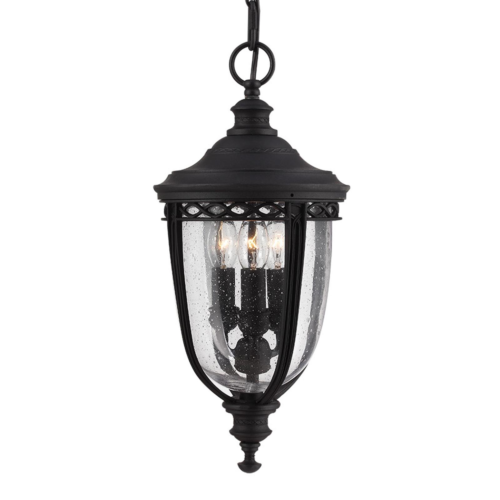 Lampa wisząca English Bridle na zewnątrz, czarna