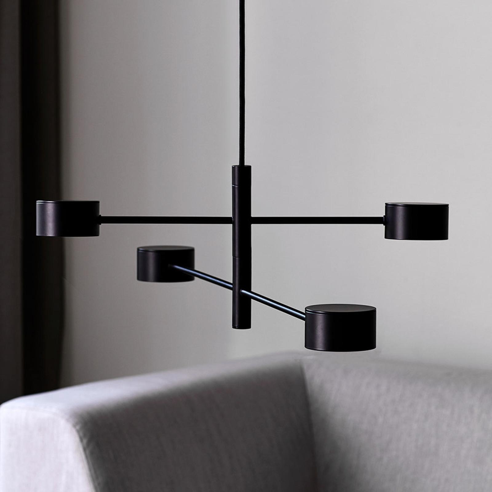 Clyde LED-hængelampe, 4 lyskilder, 2-trins