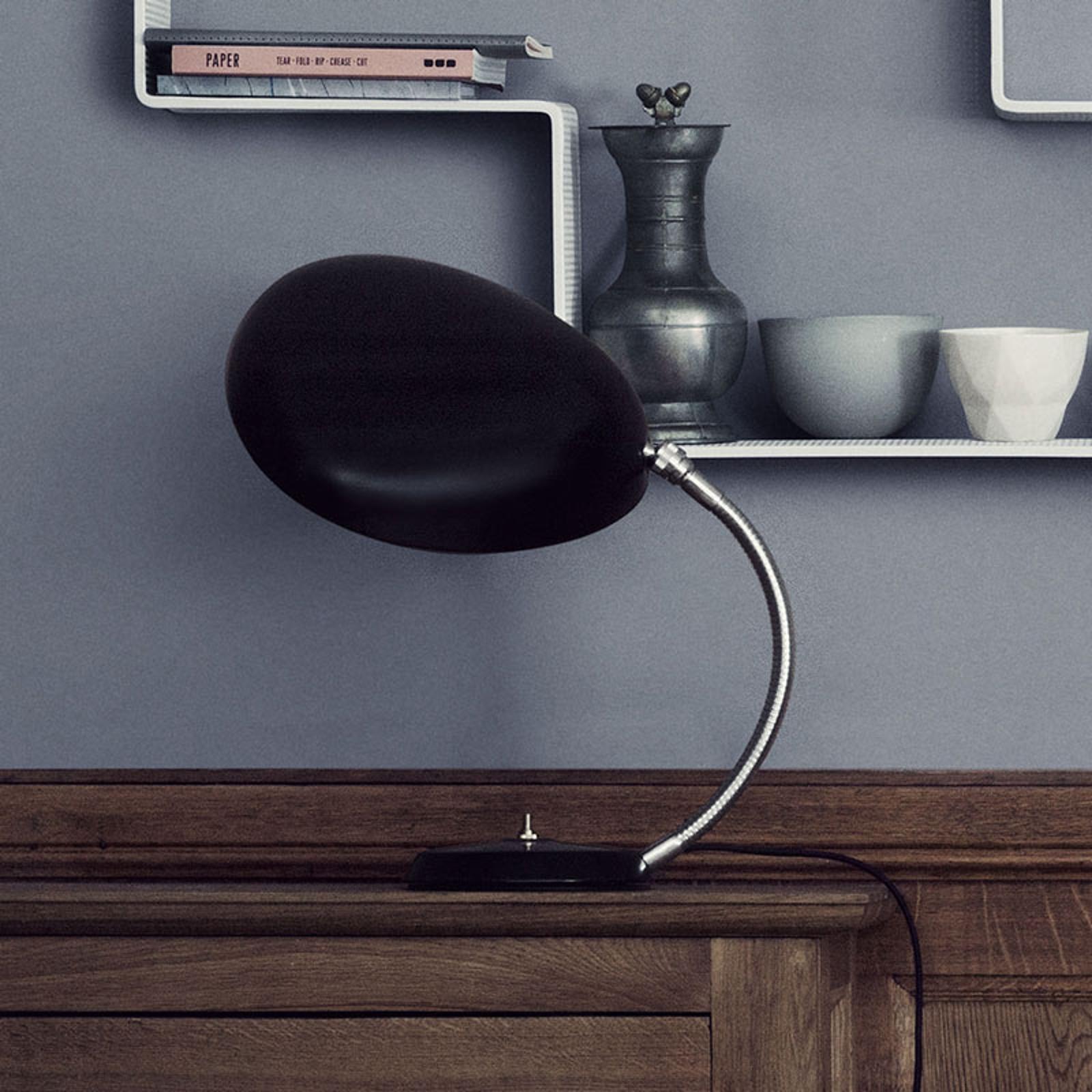 GUBI Cobra Design-Tischleuchte, schwarz