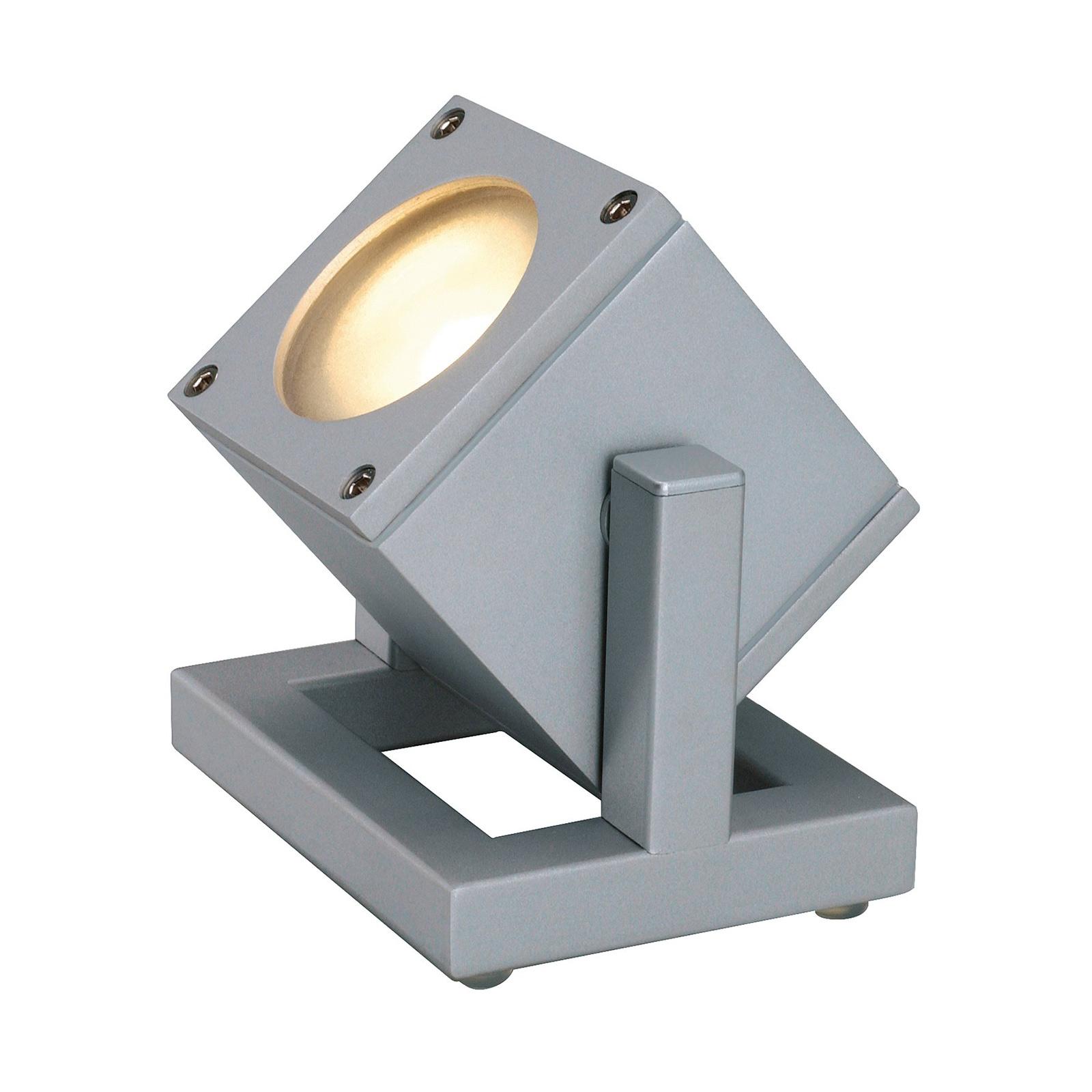 SLV Cubix I udendørs spotlight IP44 sølvgrå