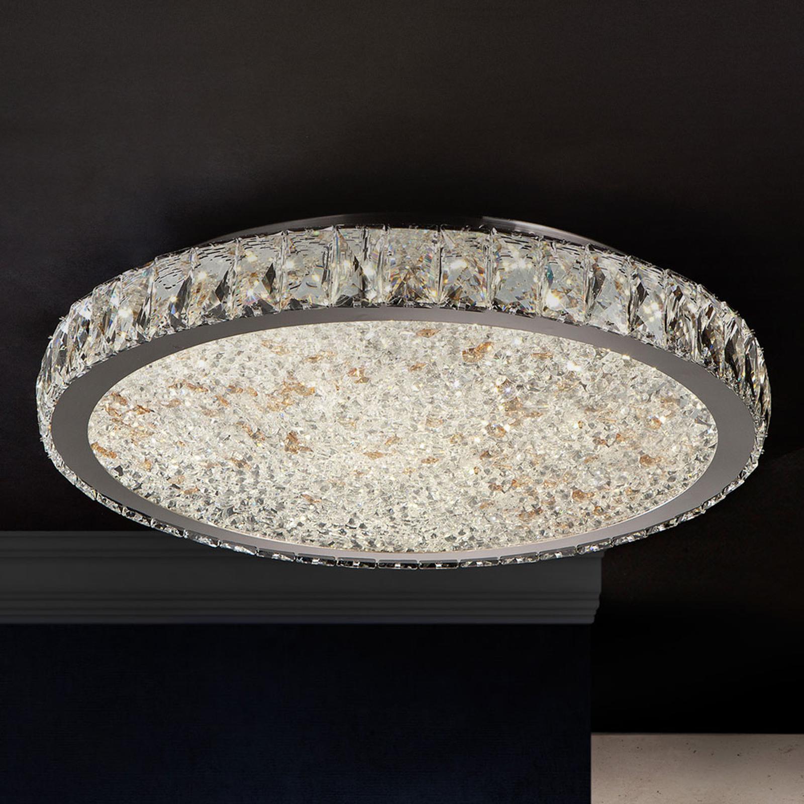 Plafonnier LED Dana avec cristaux Ø 49cm
