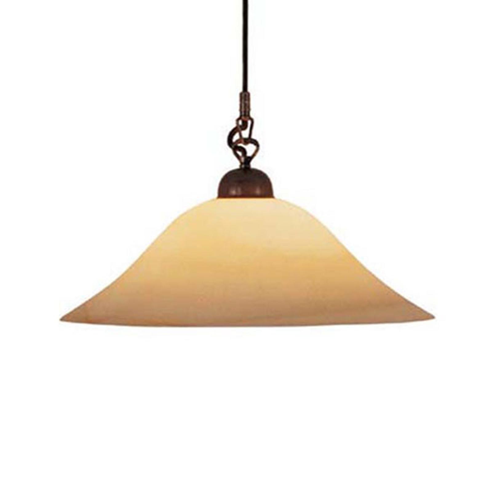 Menzel Anno 1900 hanglamp m. Scavo-rookglas Ø 42cm
