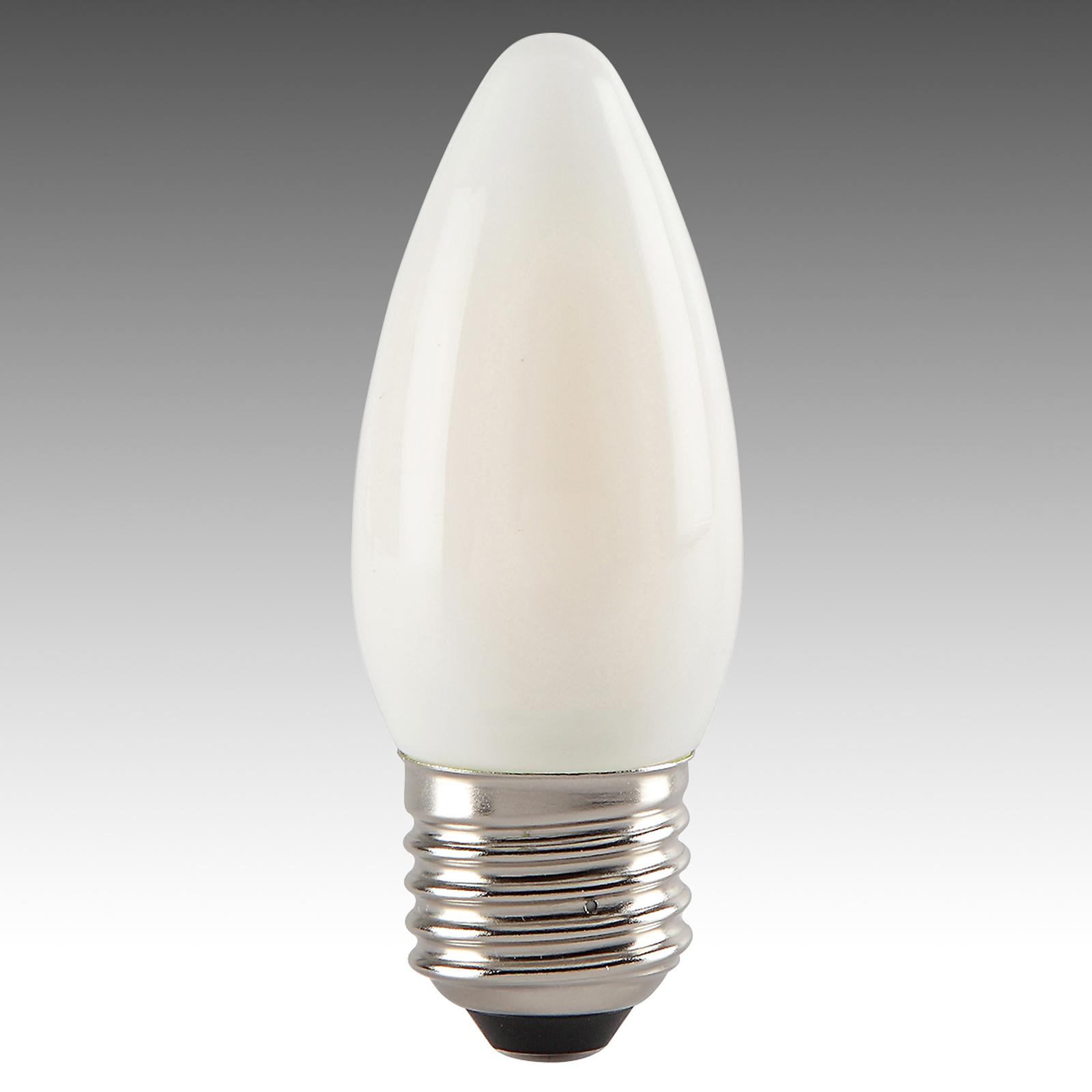 Lampadina LED a candela 827 E27 4W satinata