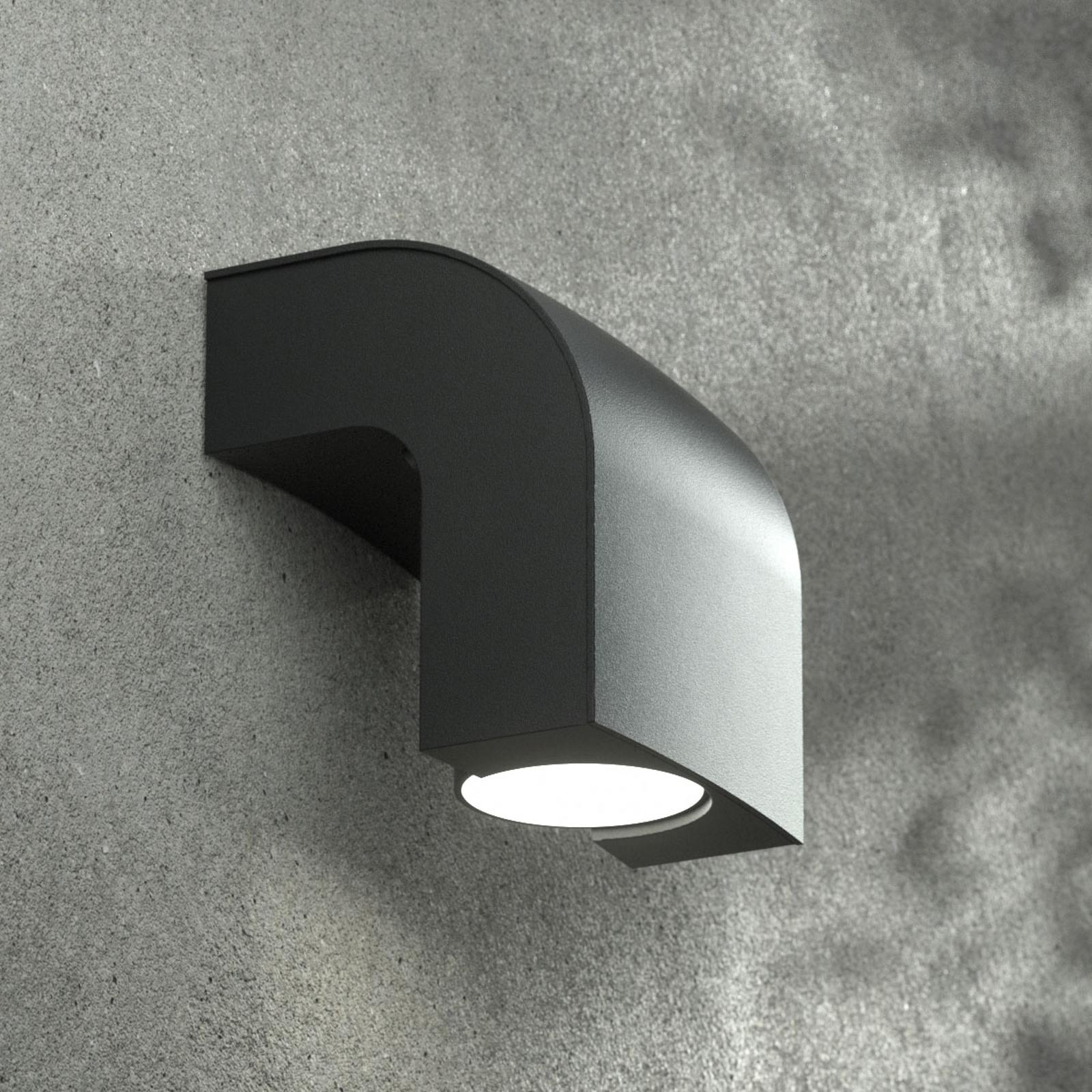 Utomhusvägglampa KLAMP, höjd 13 cm, 1 lampa