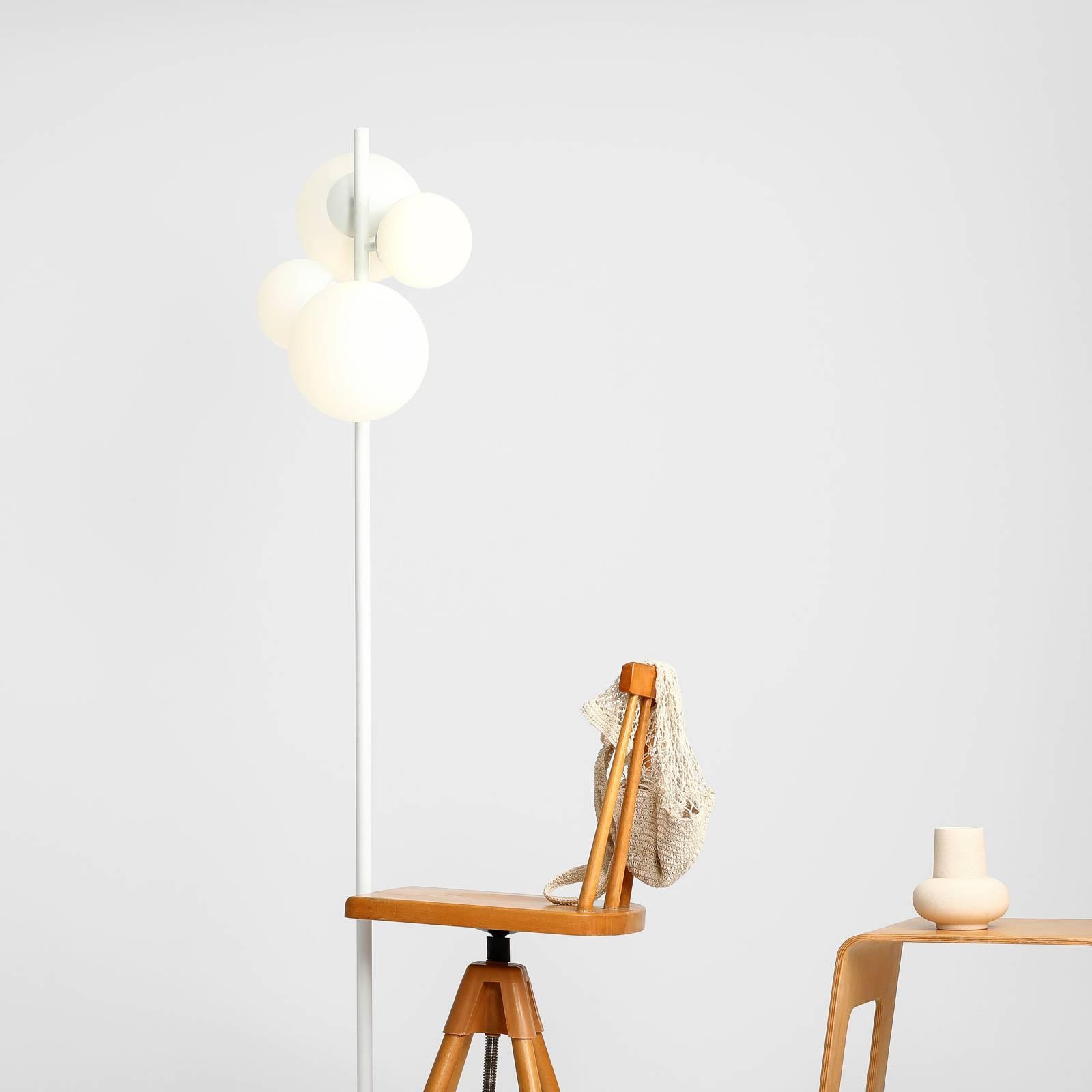 Lampadaire Bloom à quatre lampes, blanc