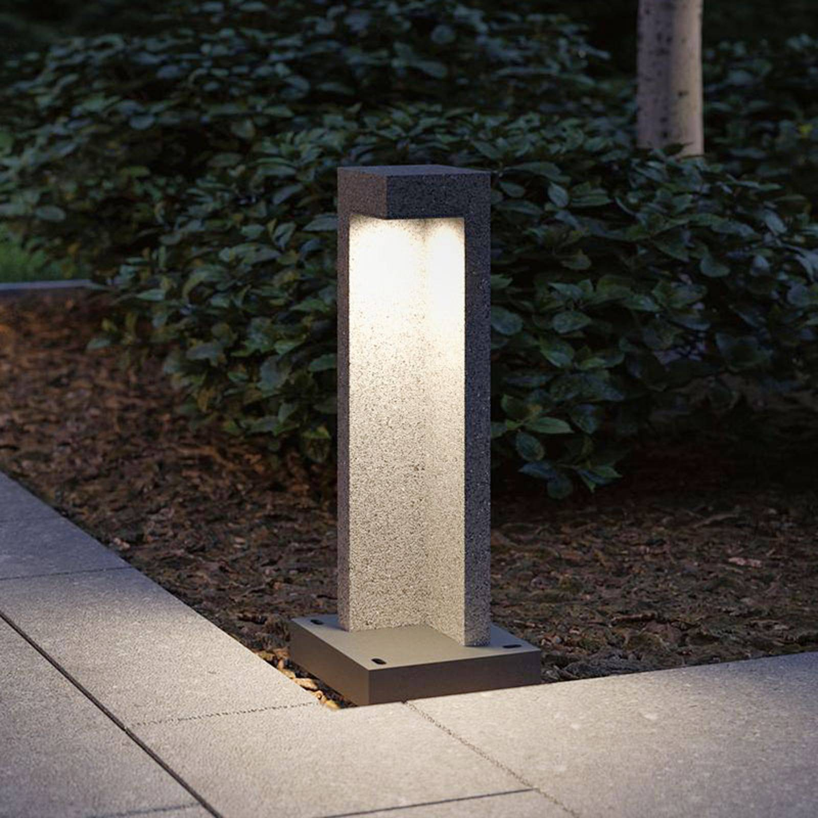 Paulmann Concrea LED-Sockelleuchte, Höhe 45 cm