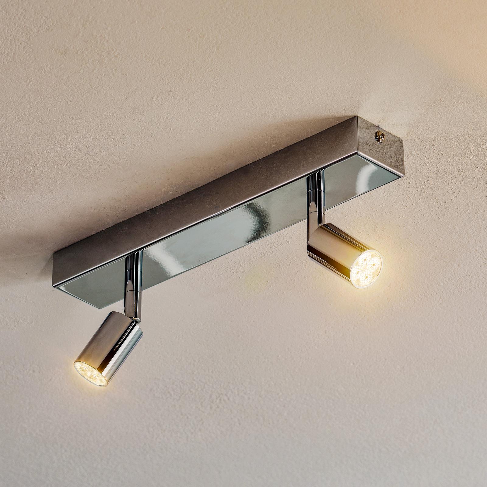 Plafonnier barre LED à 2 lampes