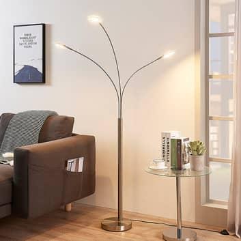 Lámpara LED de pie Anea con tres brazos