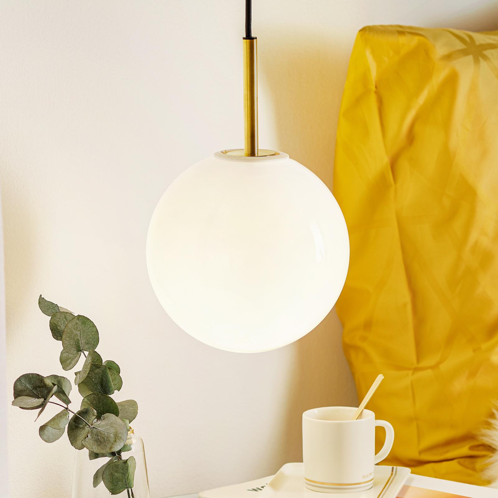 Menu TR Bulb LED-Hängelampe 1fl Messing/opal glanz