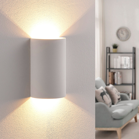 Effectief verlichtende LED gips wandlamp Jenke