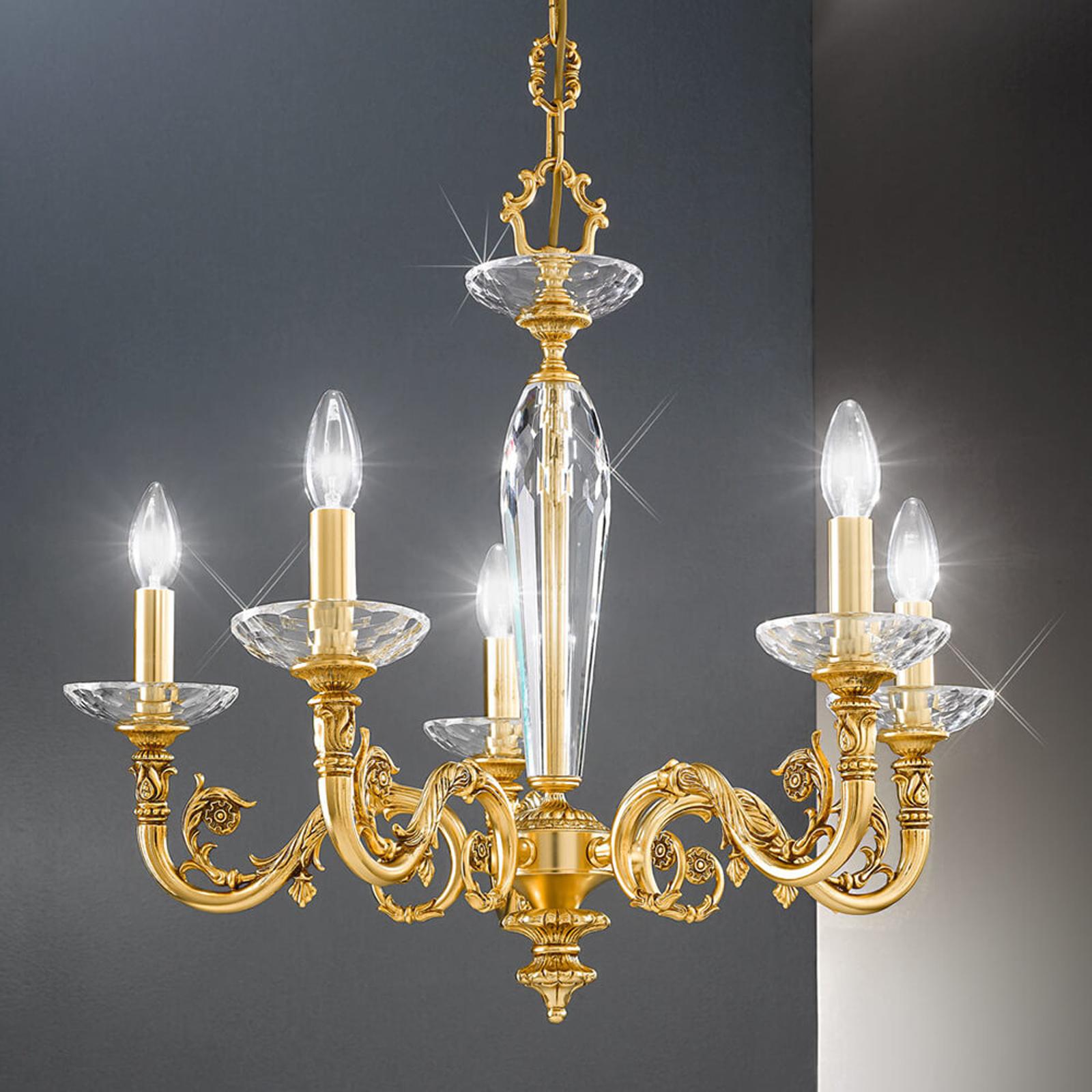 Elegancki żyrandol Contarini złoty