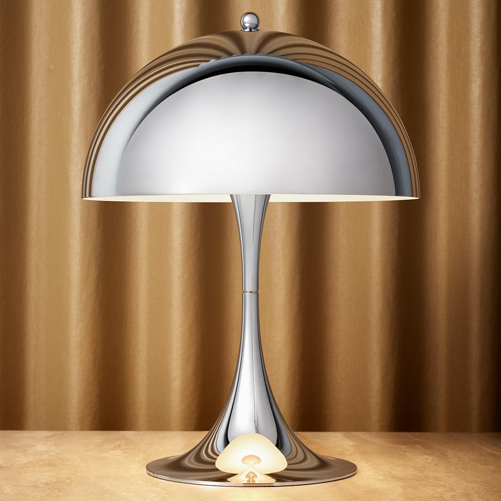 LED tafellamp Panthella Mini hoogglans verchroomd