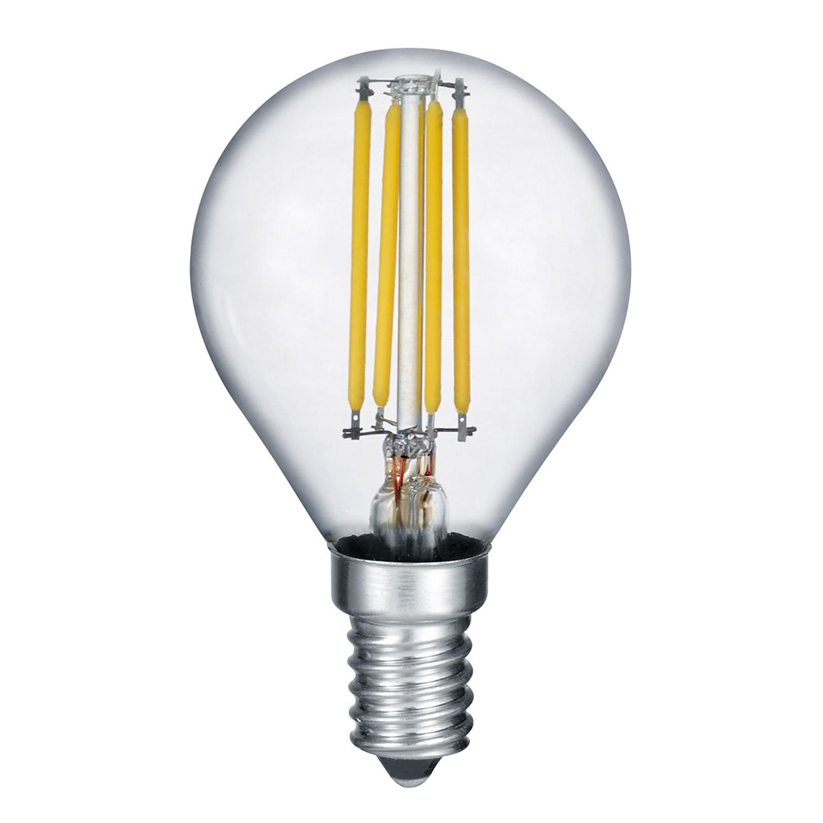 LED-lampa E14 4 W filament 2700K switch dimmer