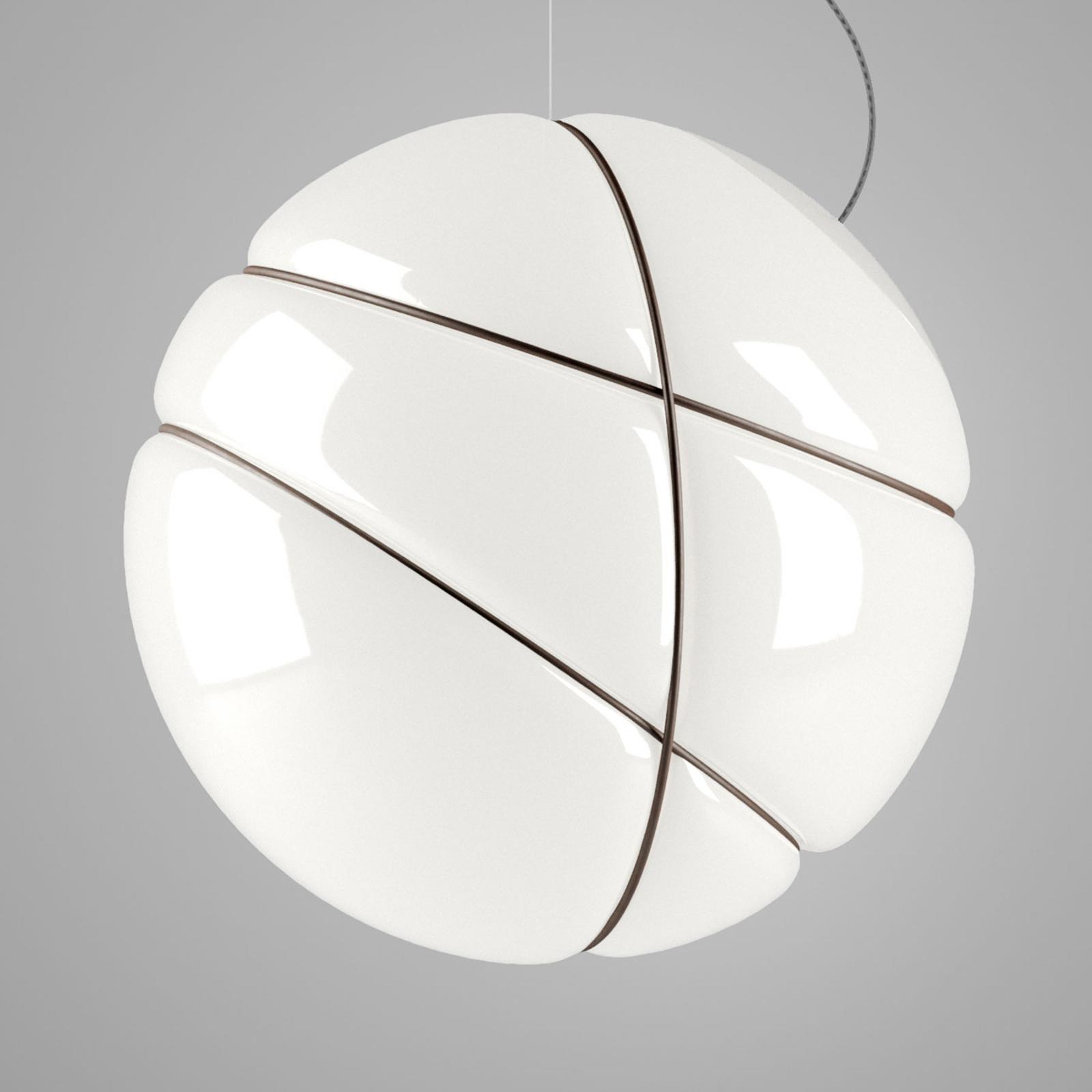 Fabbian Armilla szklana lampa wisząca biała