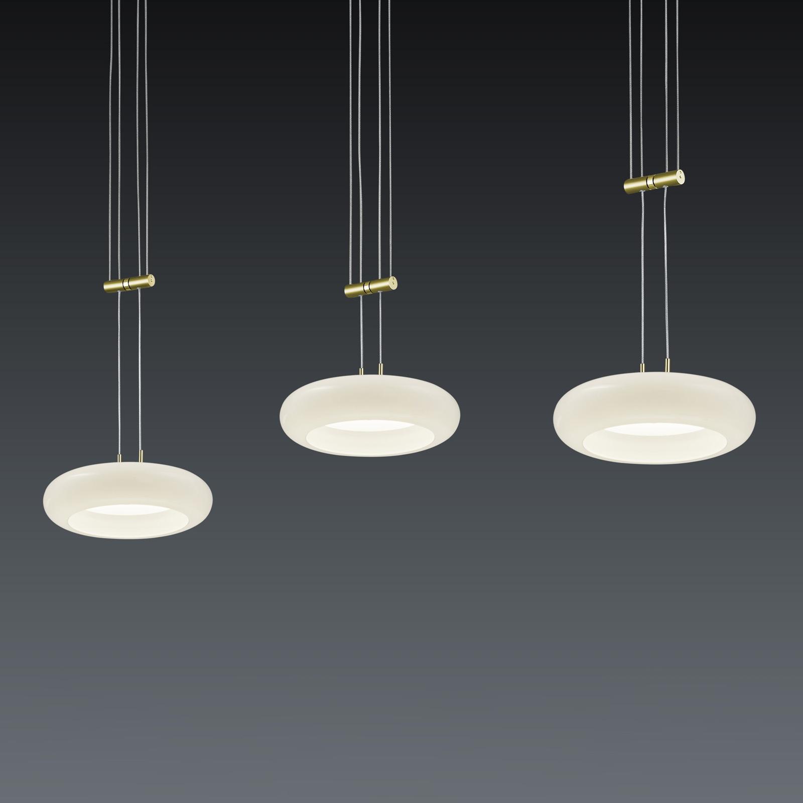 BANKAMP Centa hanglamp 3-lamps messing