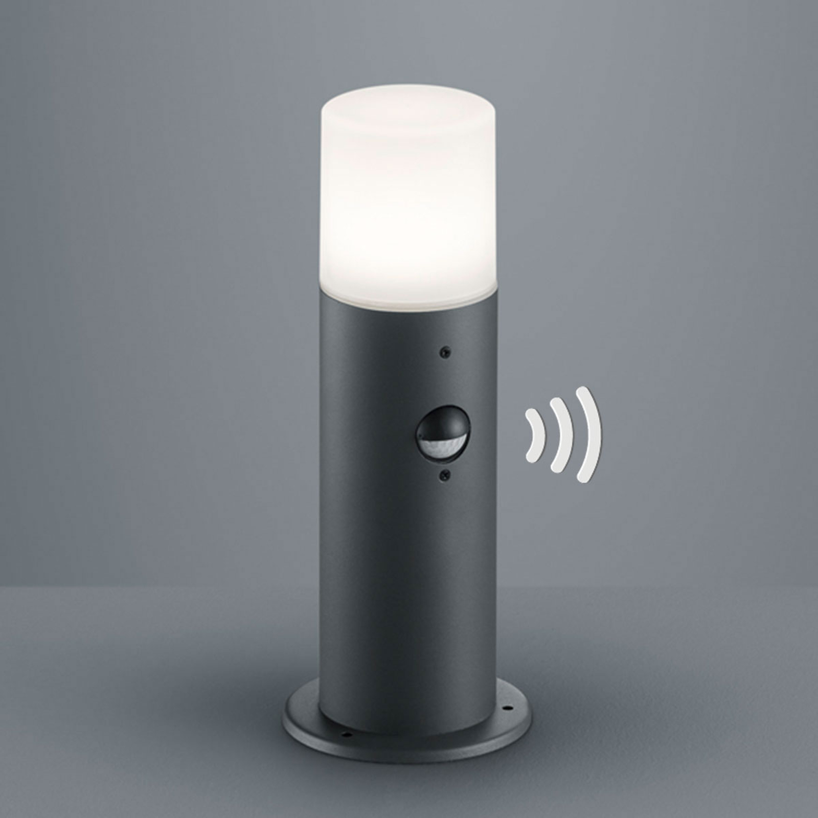 Lampioncino Hoosic in antracite con sensore