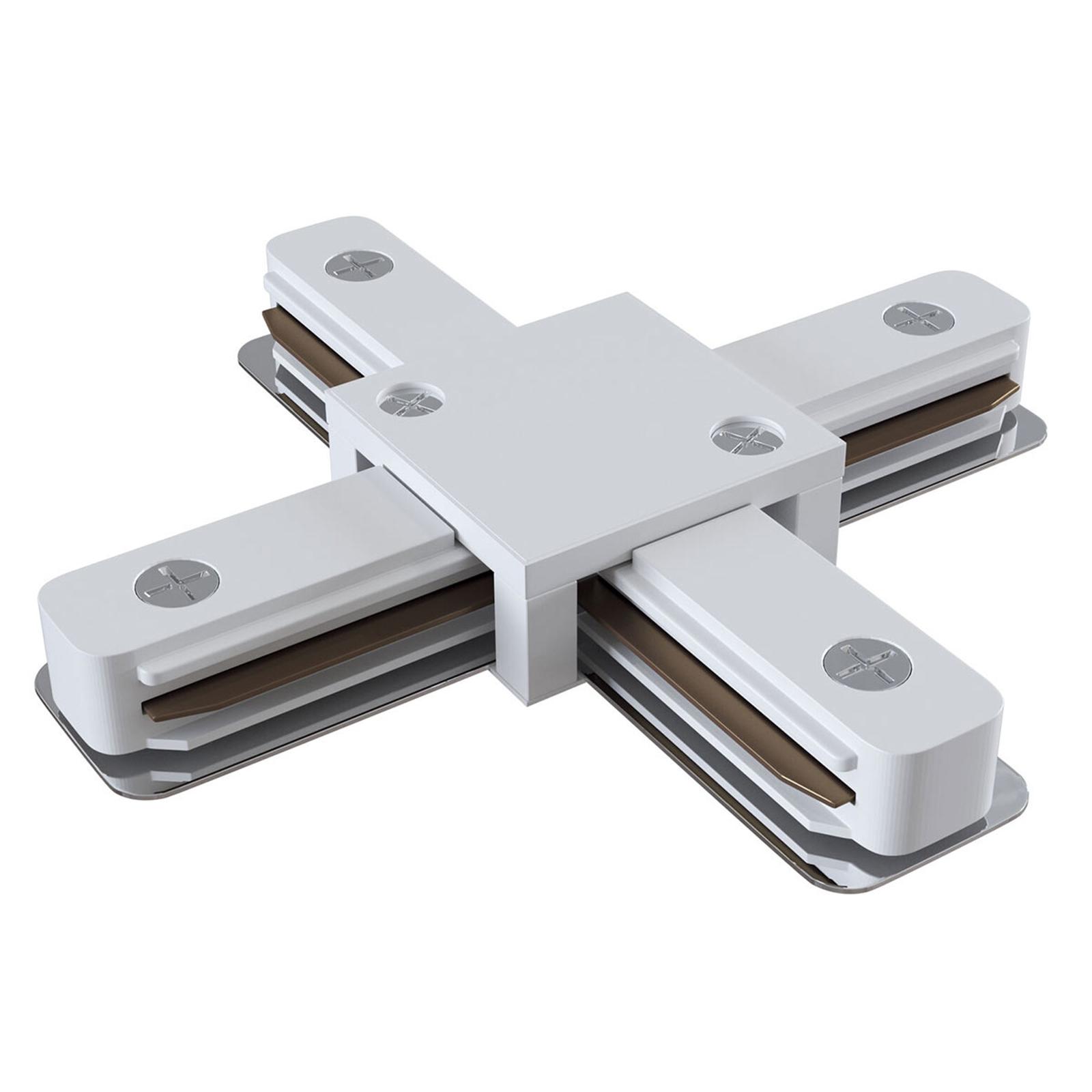 Łącznik X Track, szyna 1-fazowa, biały