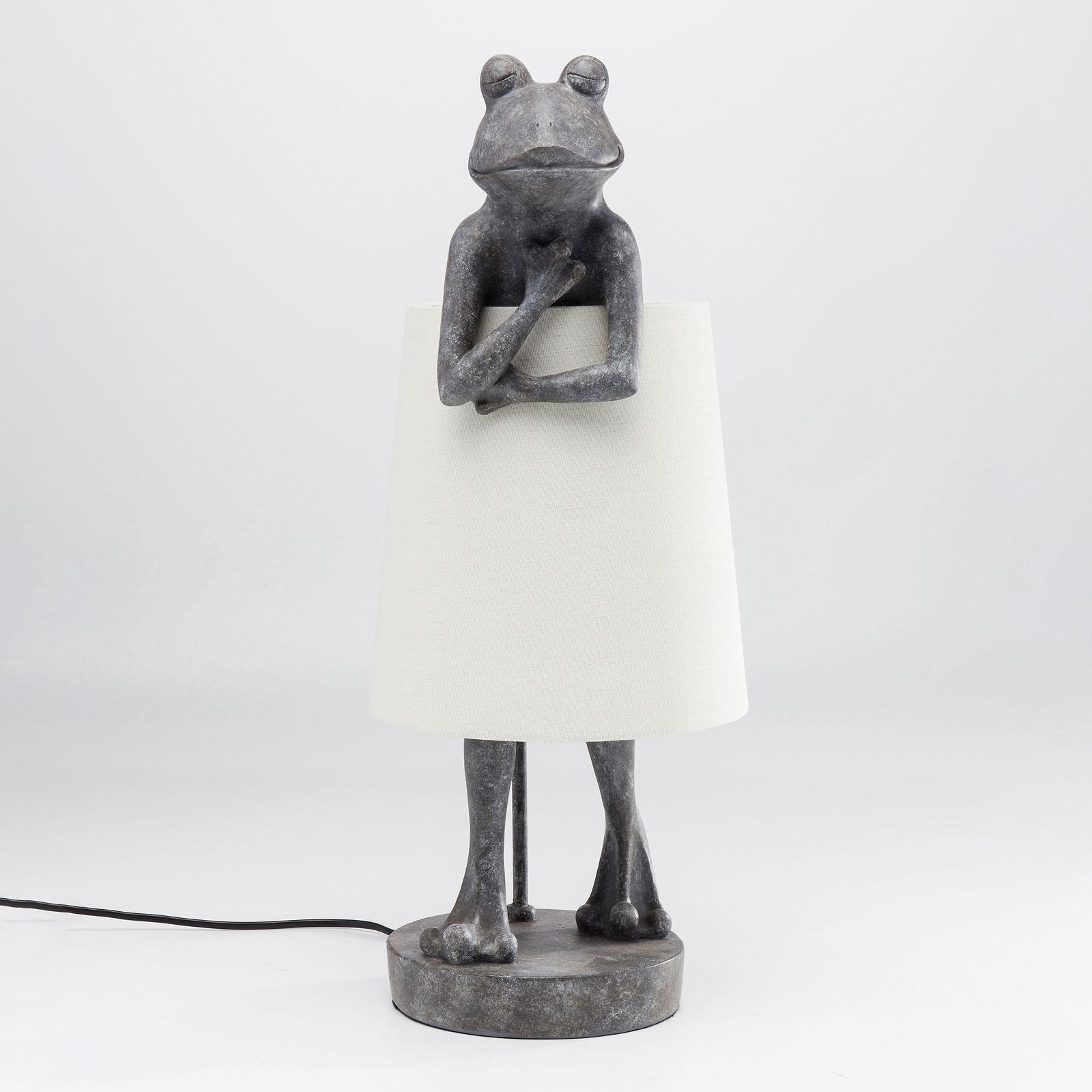 Acquista Kare Animal Frog Lampada Da Tavolo Grigia Lampade It