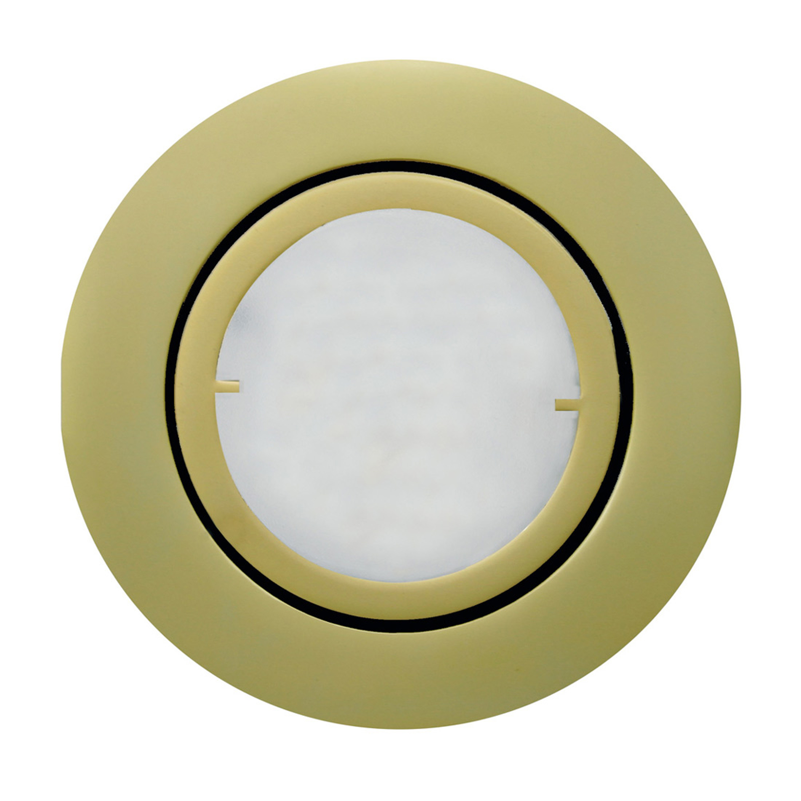 Mattgyllene LED-inbyggnadslampa Joanie