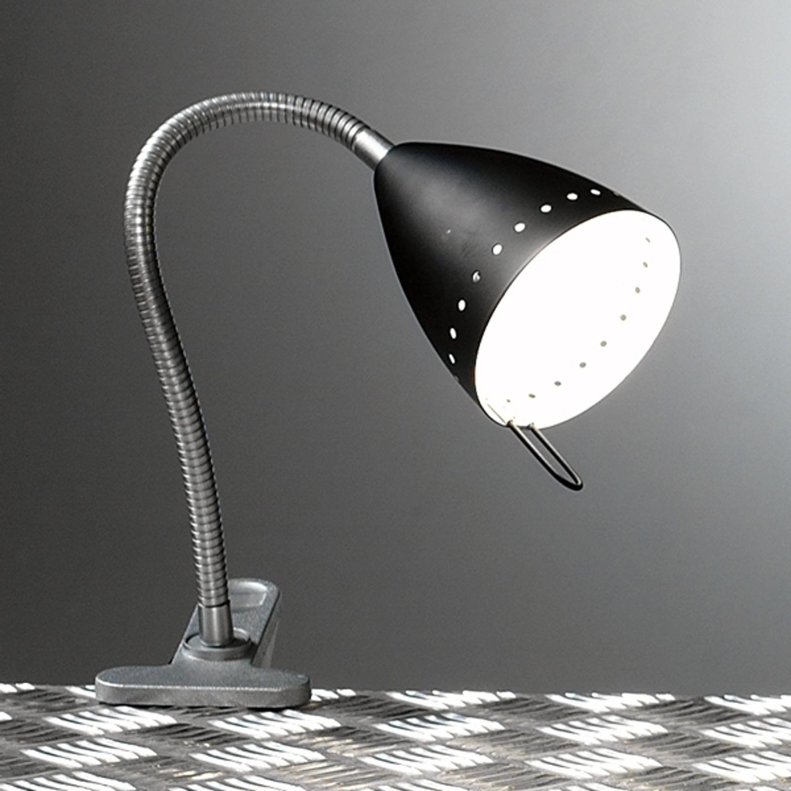 Praktische klemlamp ANGELICA, zwart