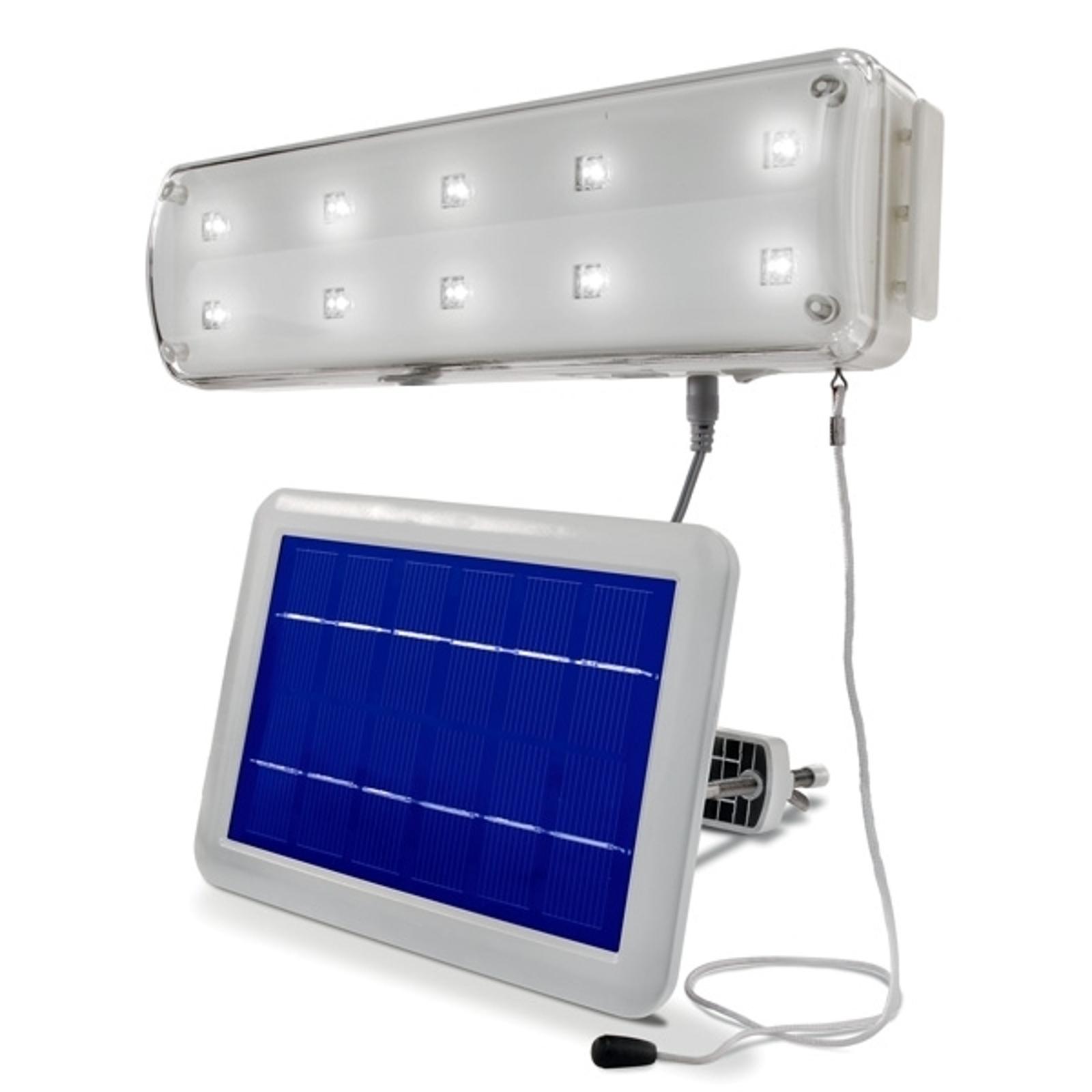Solární světelná technika s detektorem pohybu