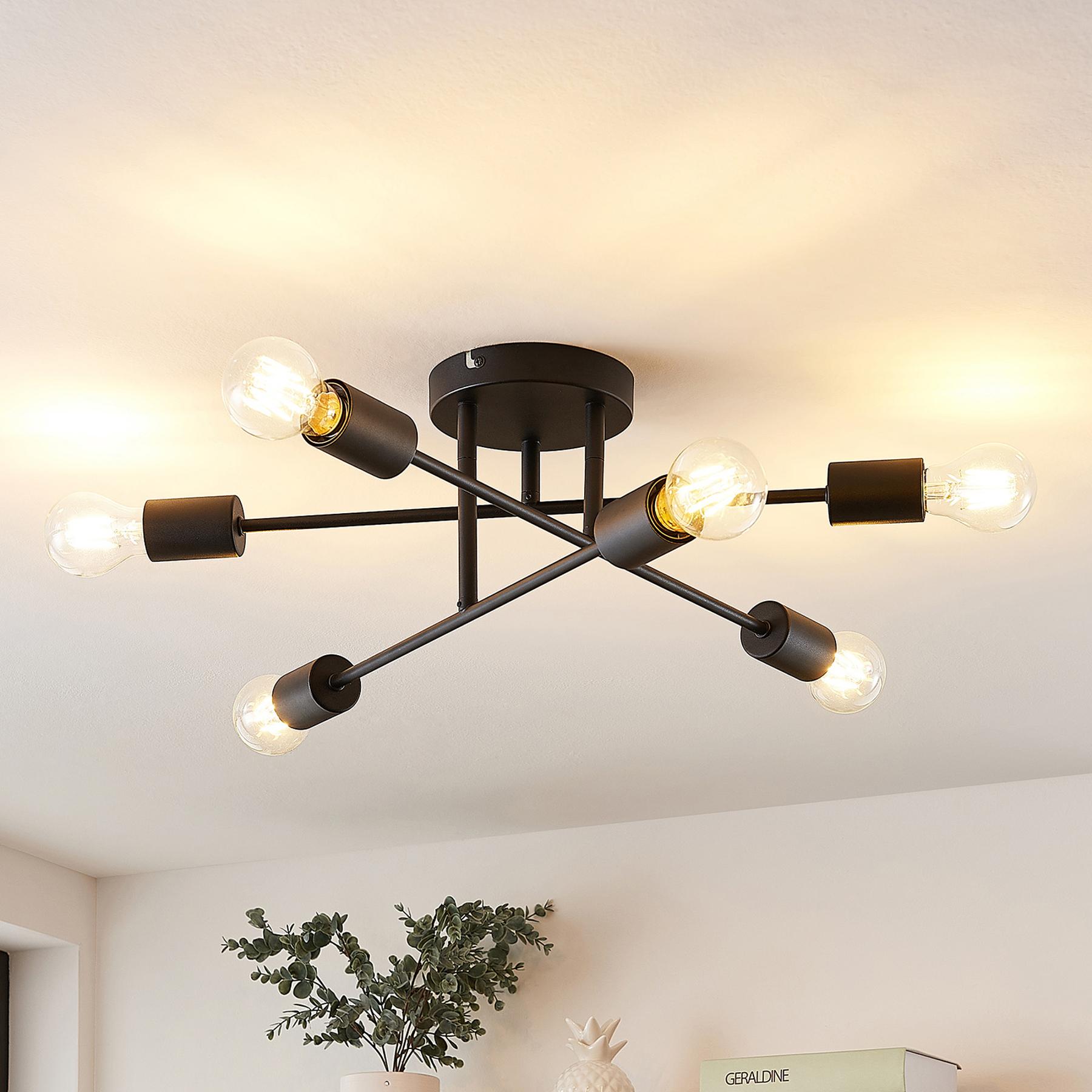 Lindby Estar plafonnier, à 6 lampes