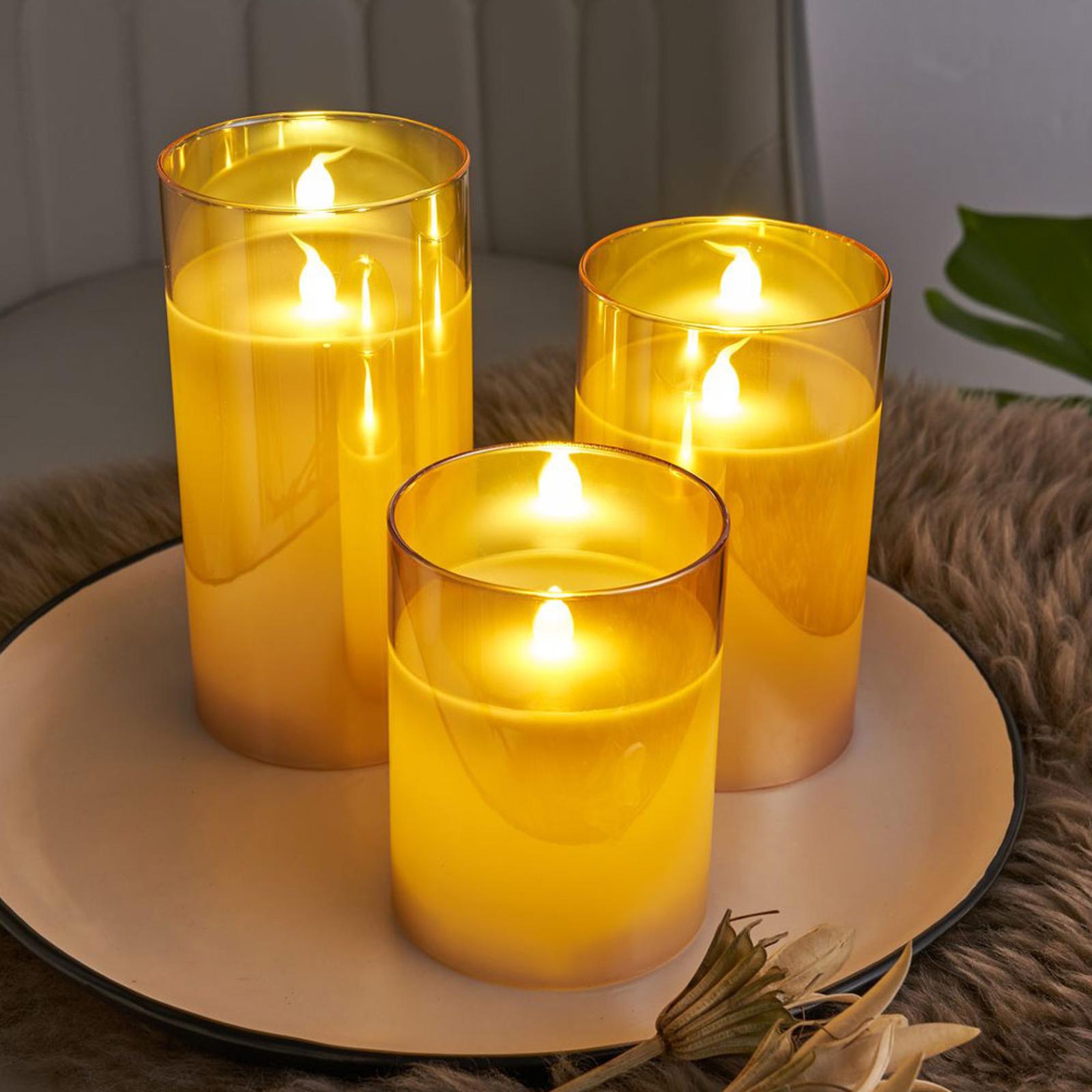 Pauleen Classy Golden Candle LED-Kerze 3er Set