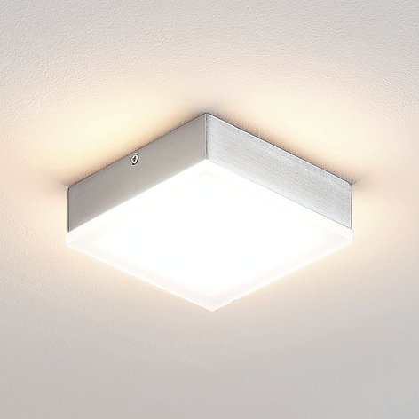 Lindby Tamito LED-Deckenlampe, nickel, dimmbar