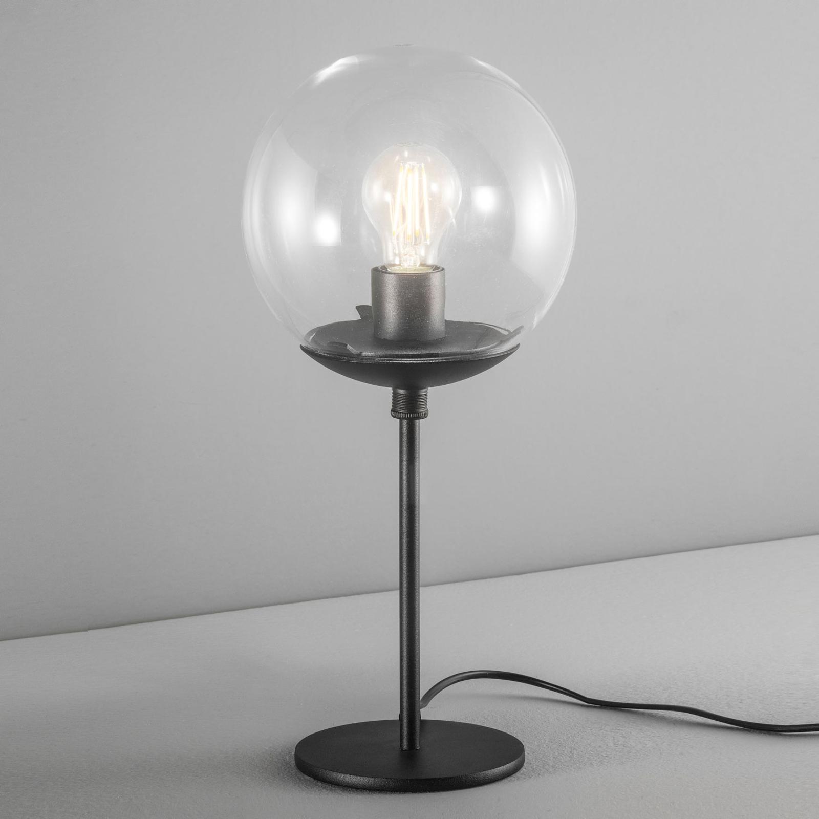 Tafellamp Global Ø 20 cm zwart