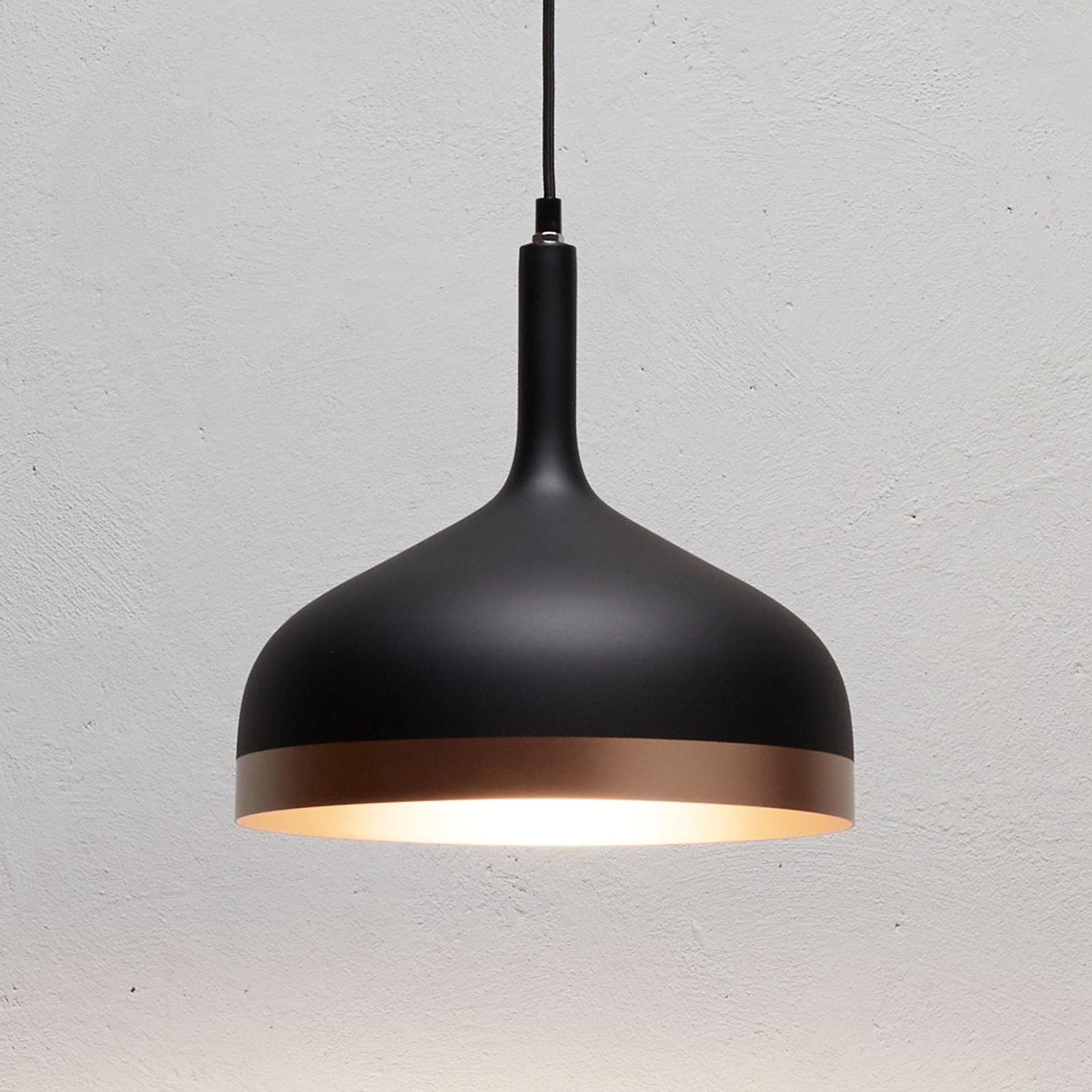 Topmoderne hanglamp Embla in zwart