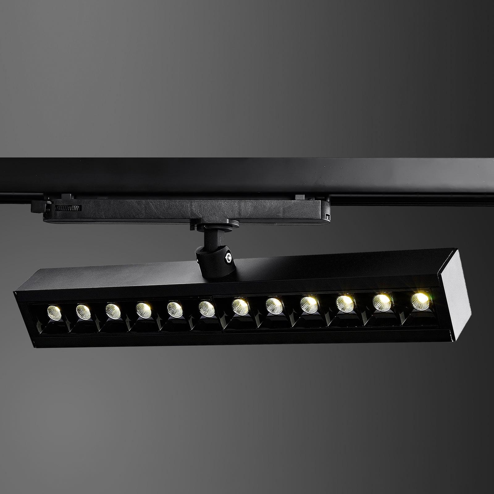 Arcchio Millay LED-3-Phasen-Schienenspot schwarz