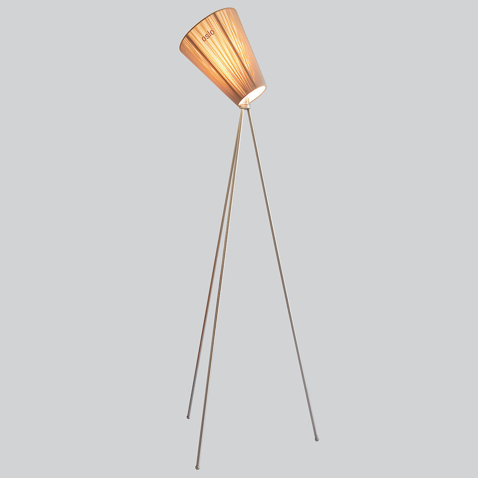 Northern Oslo Wood lampadaire acier/beige