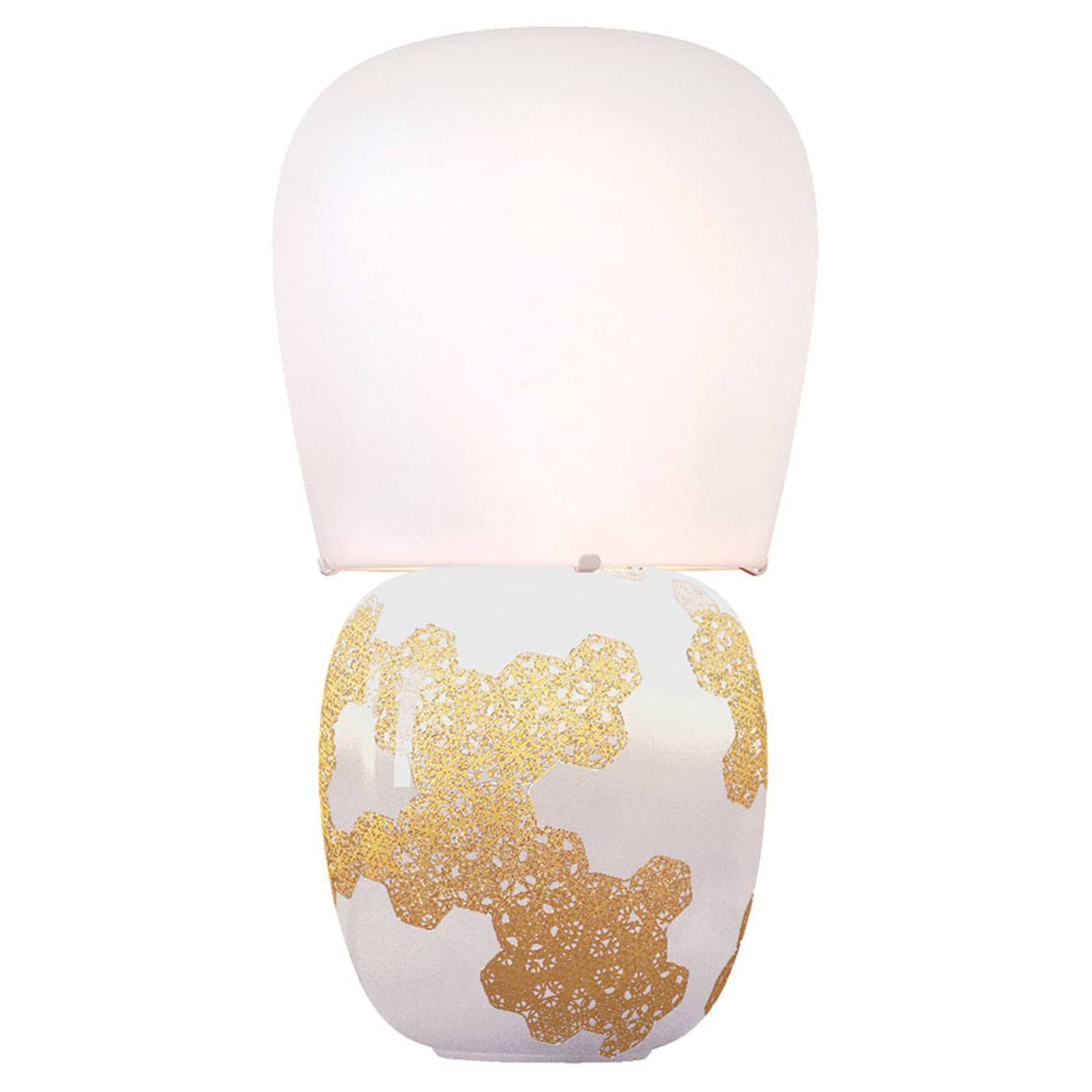 Kundalini Hive - keramická stolní lampa bílá
